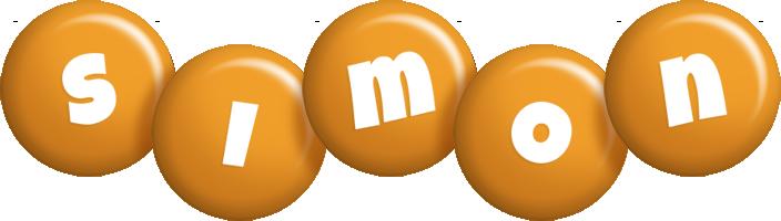 Simon candy-orange logo