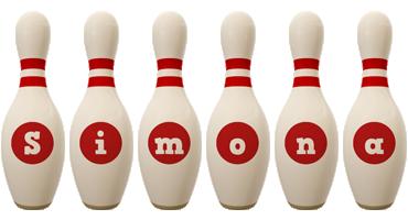 Simona bowling-pin logo