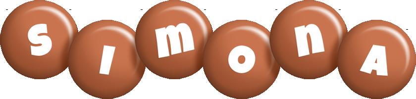 Simona candy-brown logo