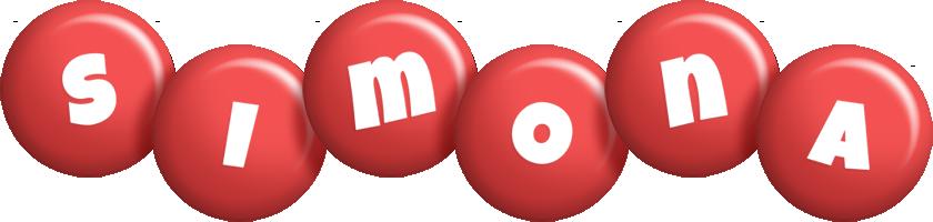 Simona candy-red logo