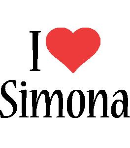 Simona i-love logo
