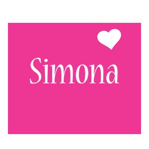 Simona love-heart logo