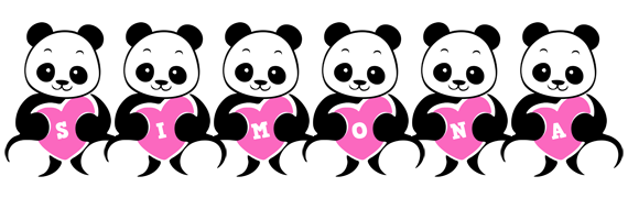 Simona love-panda logo