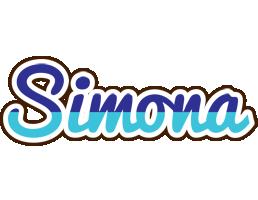 Simona raining logo