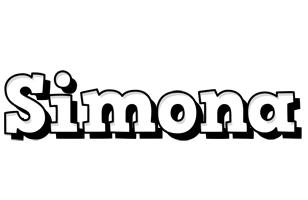 Simona snowing logo