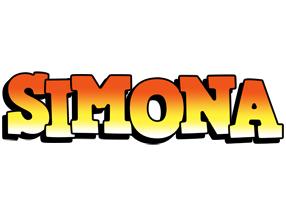 Simona sunset logo