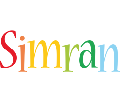Simran birthday logo
