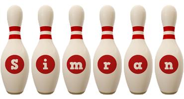 Simran bowling-pin logo