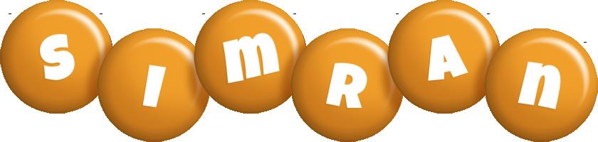 Simran candy-orange logo