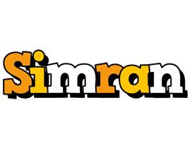 Simran cartoon logo