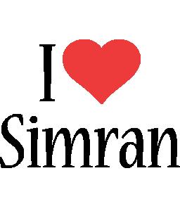 Simran i-love logo