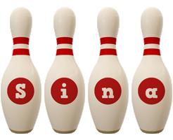 Sina bowling-pin logo