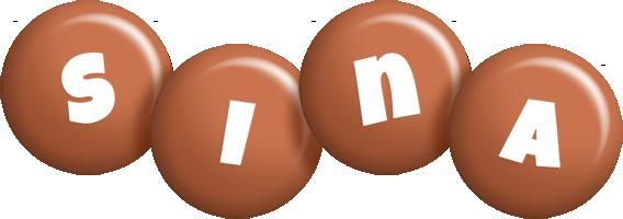 Sina candy-brown logo