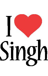 Singh i-love logo