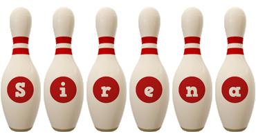 Sirena bowling-pin logo