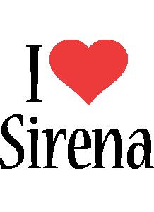 Sirena i-love logo