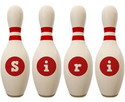 Siri bowling-pin logo