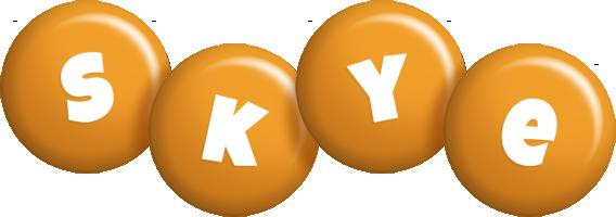 Skye candy-orange logo