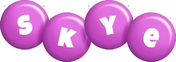 Skye candy-purple logo