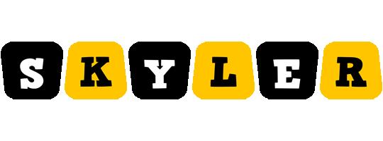Skyler boots logo