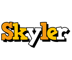 Skyler cartoon logo