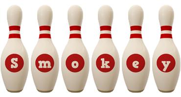 Smokey bowling-pin logo