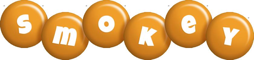 Smokey candy-orange logo
