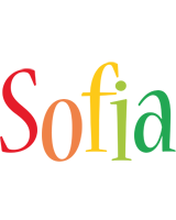 Sofia birthday logo