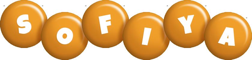 Sofiya candy-orange logo