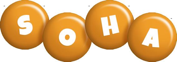 Soha candy-orange logo