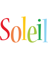 Soleil birthday logo