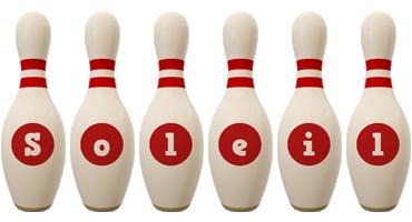 Soleil bowling-pin logo