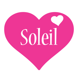 Soleil love-heart logo