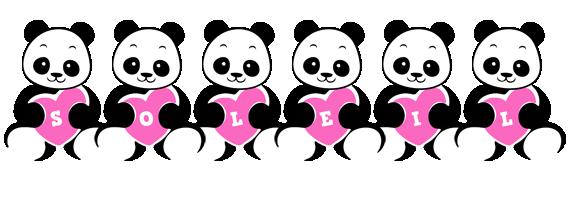 Soleil love-panda logo
