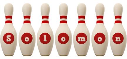 Solomon bowling-pin logo