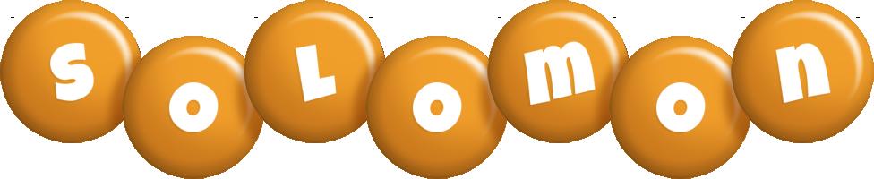 Solomon candy-orange logo