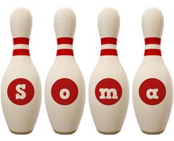 Soma bowling-pin logo