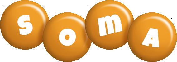 Soma candy-orange logo