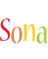Sona birthday logo
