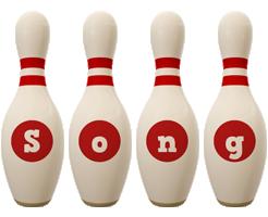 Song bowling-pin logo