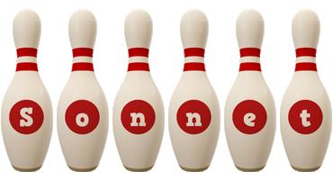 Sonnet bowling-pin logo