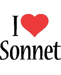 Sonnet i-love logo