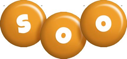 Soo candy-orange logo