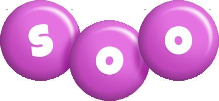 Soo candy-purple logo