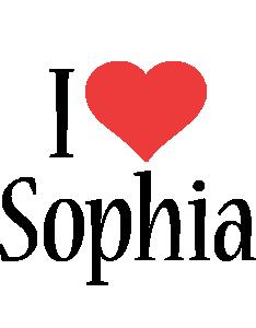 Sophia i-love logo