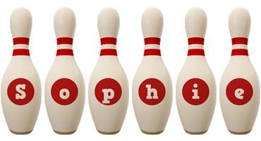 Sophie bowling-pin logo