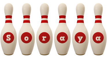 Soraya bowling-pin logo