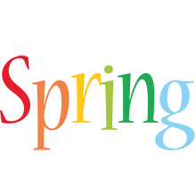 Spring birthday logo
