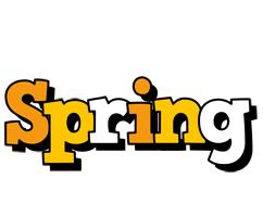 Spring cartoon logo