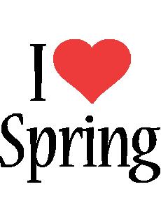 Spring i-love logo
